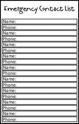 Copy of Emergency Contact List