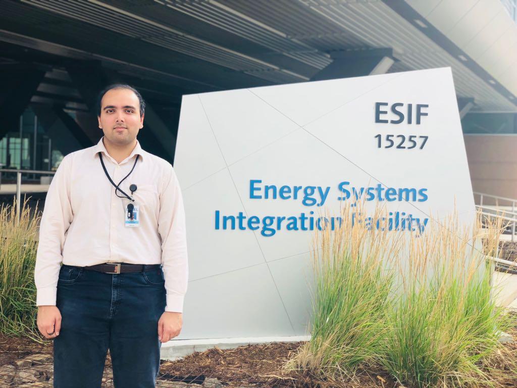 Aditya Sundararajan at the National Renewable Energy Laboratory (NREL) in Golden, Colorado.