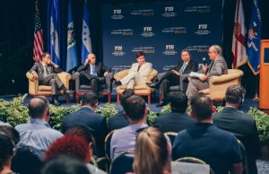 International officials visit FIU to announce operation against transnational crime