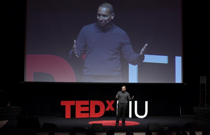 Alberto Padron '98, MBA '09, returns for a third year as the TEDxFIU master of ceremonies.