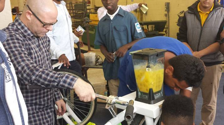 Students at Miami Northwestern demonstrate their welding skills as part of the newly expanded program through The Education Effect.