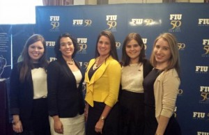 Sen. Anitere Flores, center, joins members of FIU's Student Government Association during FIU Day at the Capitol.