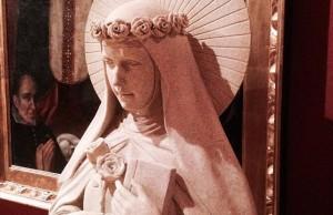 A statue of Santa Rosa de Lima