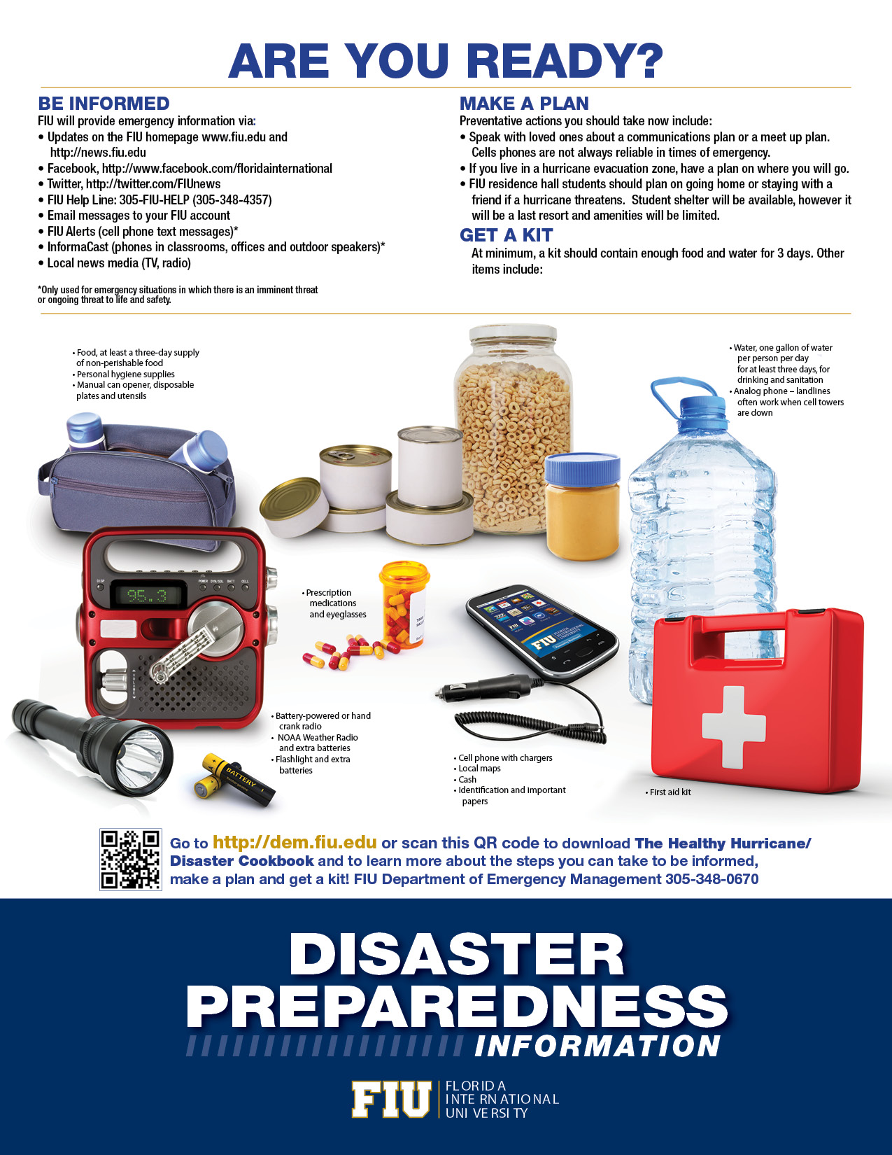 disaster preparedness The region and climate of san diego make the city susceptible to earthquakes, wildfires and flooding which might result in the interruption of critical services such as power, water and communications citizens can minimize the impact of service interruptions by storing enough supplies to be self sufficient for three to five days without services.