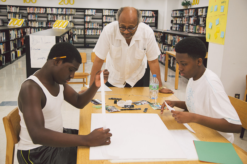 Students from Miami Northwestern Senior High take part in the Algebra Project Summer Institute.