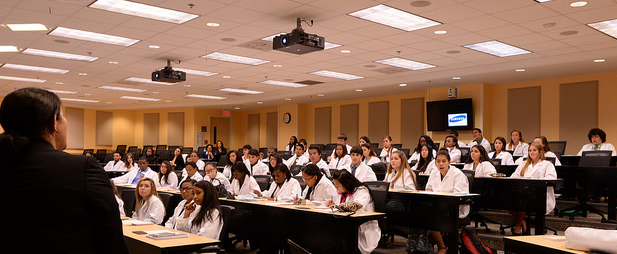 Aileen M. Marty, M.D. addresses students at National Youth Leadership Forum Day