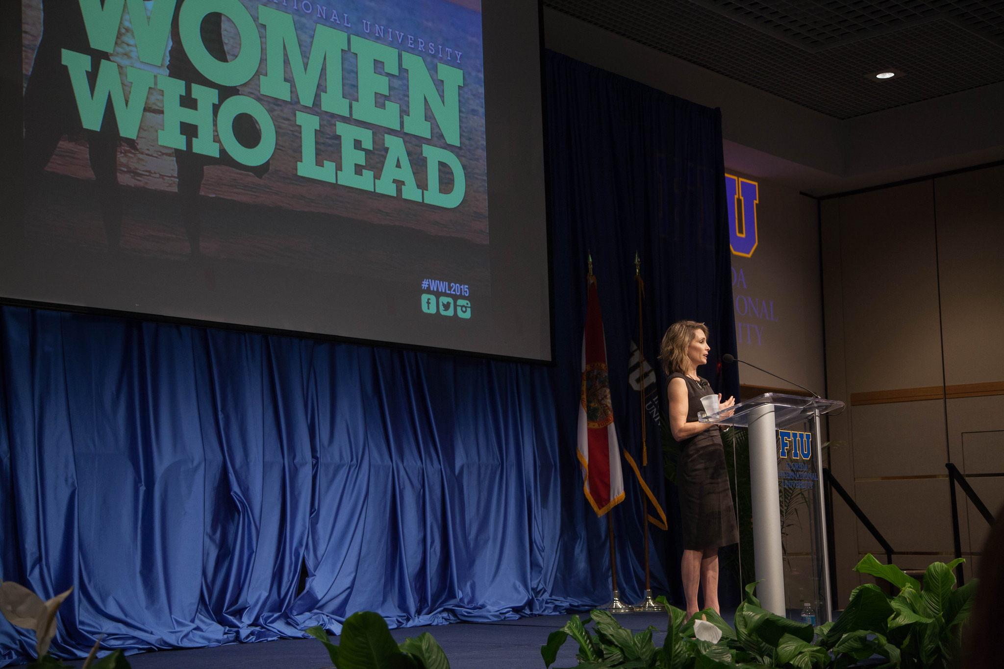 Shannon Miller headlined the 9th annual Women Who Lead conference, a two-daylong event is designed to further enhance the leadership development of female students.