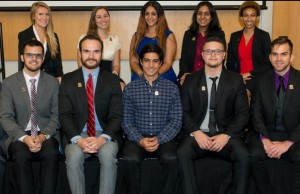 This year's DOE Fellows at an induction ceremony in November.