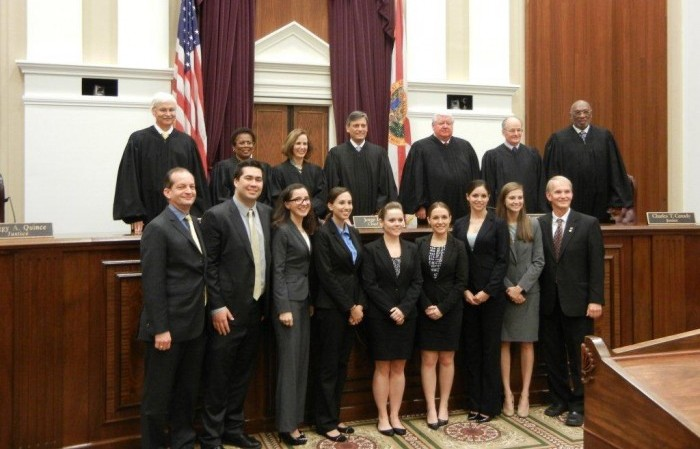 Moot Court teams argue before the Florida Supreme Court