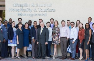Members of the Miami Fellows tour the Chaplin School of Hospitality & Tourism Management.