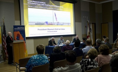 FIU's Cuban Research Institute and Kimberly Green Latin American and Caribbean Center hosted a community conversation on President Obama's historic visit to Cuba.