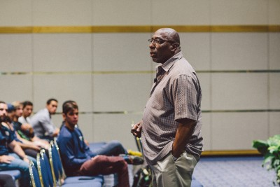 Tony Porter discusses breaking out of gender stereotypes with FIU students