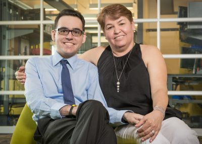 Ricardo Mizos and his mom, Maria del Carmen
