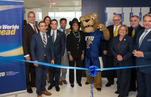 FIU leadership and South Florida Congressional delegation gather to cut the inaugural ribbon for FIU in D.C