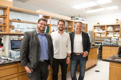 Miami MedTech members, XXX, Max Mendez and Dr. Pedro Martinez-Clark