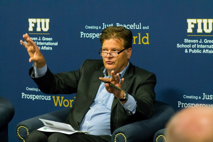 Mark Medish, a former security advisor to Bill Clinton, speaks at FIU in October 2016. He will return to campus on April 17 to discuss U.S.-Russian relations.