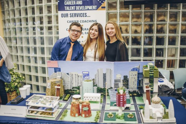 Doral Academy Preparatory School Left to right: Miguel Peon, Sofia Picard, Valeria Ray