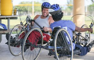 Hand cycling program provides exercise for students with disabilities