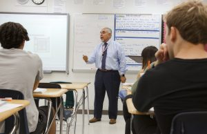 City Manager Jimmy Morales  in his American Government classroom