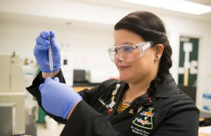 Radiochemistry Ph.D. student Ingrid Lehman-Andino is investigating how to make nuclear energy reusable and less toxic.