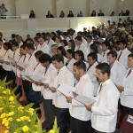 The first FIU Herbert Wertheim College of Medicine's White Coat Ceremony in 2009.