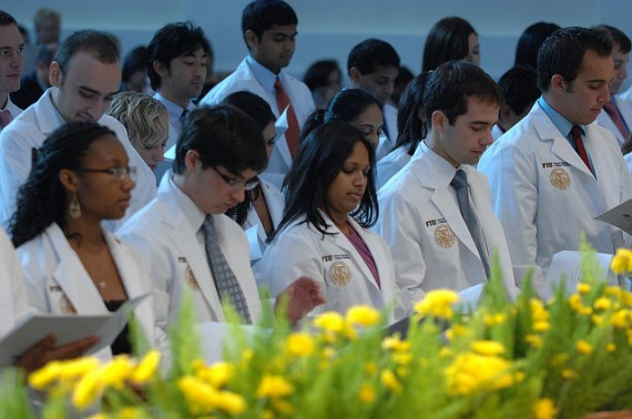 Four years ago, the Class of 2013 received their white coats in a ceremony at WPAC. On Friday, they will find out from the same stage where they'll begin their residencies.
