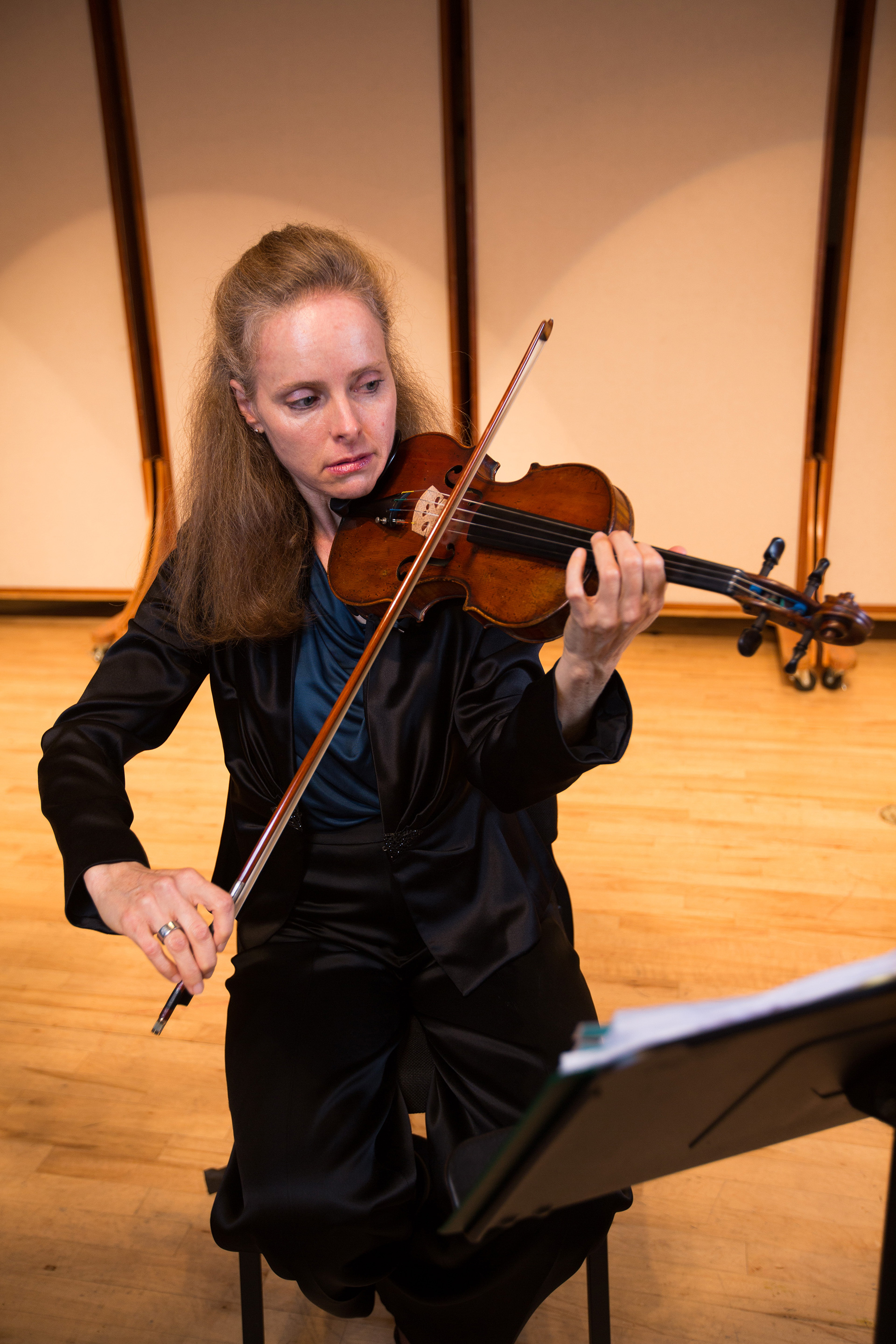 Littley with the Amram violin