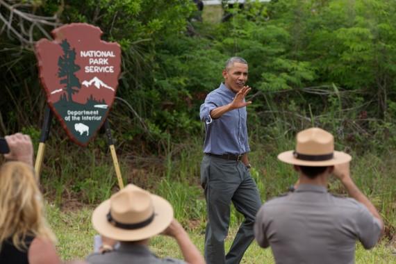 Obama at Everglades National Park