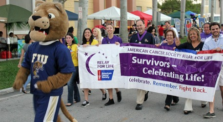 FIU family members become cancer-fighting superheroes at Relay for Life