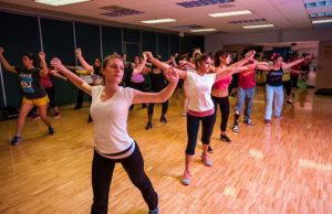 Zumba classes at the FIU Wellness and Recreation Center.