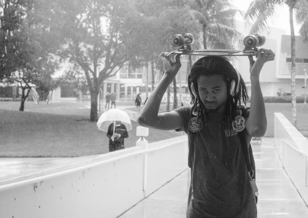 980 Skater in the Rain