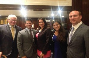 President Rosenberg, Christian Gonzalez (FIU alumnus), State Senator Anitere Flores, Pamela Pamela (current Federal Relations intern) and Miami-Dade Republican Party Chairman Nelson Diaz.