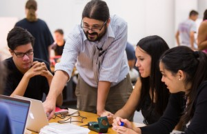 To keep students interested in physics, have them interact