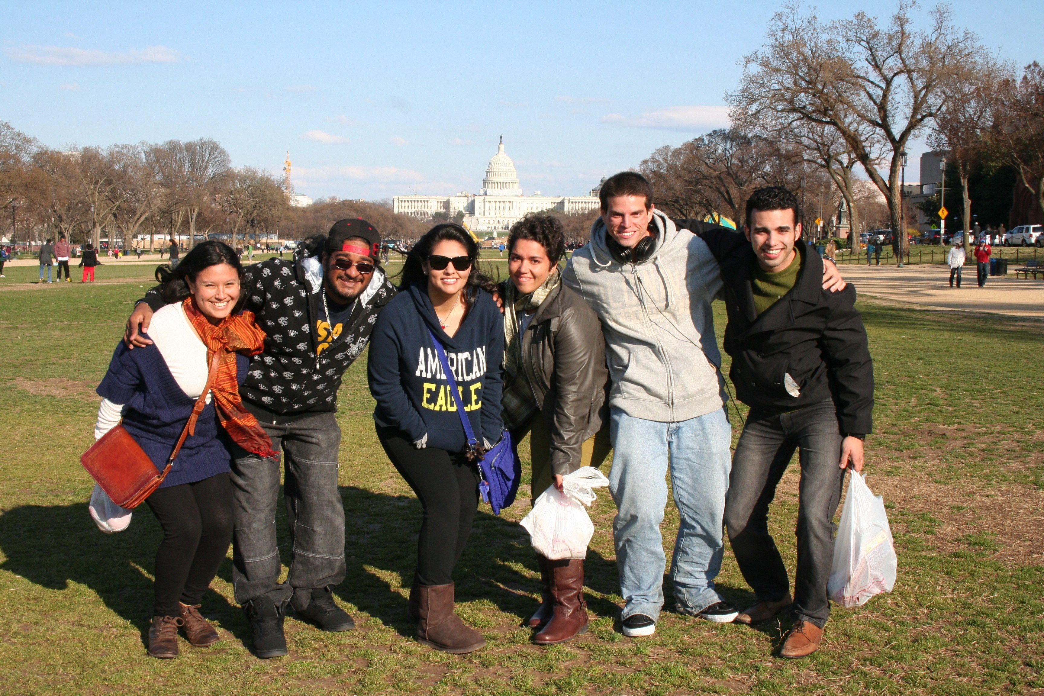 FIU Agroecology students pose in front of the U.S. Capitol in early March.