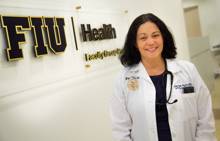 FIU's infectious disease expert Dr. Aileen Marty