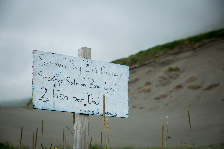 Alaska Fish&Game Sign