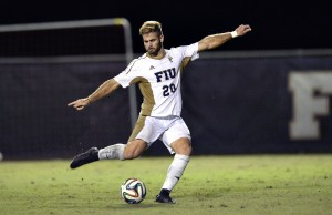 Former FIU men's soccer midfielder Roberto Alterio signed with Miami FC, a new professional soccer team playing its home games at FIU Stadium.
