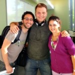 Aneysis Gonzalez (right) with two postdoctoral colleagues while researching at Stanford.