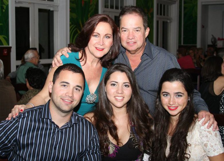 The Ares family; pictured L-R: (upper) mother Dulce M. Ares, father Angel Ares, (lower) son Angel L. Ares, daughters Adriana A. Trespalacios and Alejandra Ares.