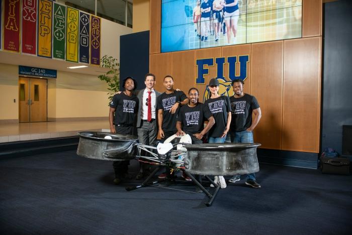 Assen Aeronautics team. From left to right: Lamar Burton, Assen Andonov, Marcus Herndon, John Gibson, Milena Andonov and Micheal Adeyosoye.