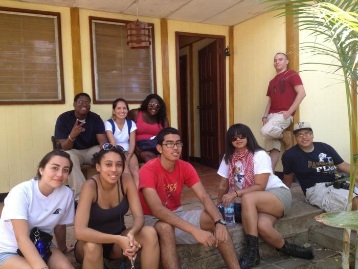 FIU students in Nicaragua.