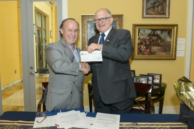 "Joseph ""Pepe"" Badía and FIU President Mark B. Rosenberg"
