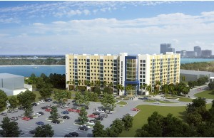 Rendering of Bayview Student Living at FIU, opening August 2016.