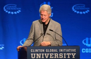 Former President Bill Clinton speaks at the Clinton Global Initiative University opening plenary session on March 6, 2015. http://www.elkharttruth.com/news/national/2015/03/08/Bill-Clinton-defends-foreign-donations-to-foundation.html