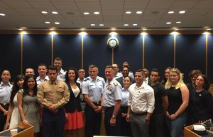 U.S. Coast Guard Adm. Paul Zukunft meets with FIU students, faculty and administrators to discuss scholarships, internships and other opportunities.
