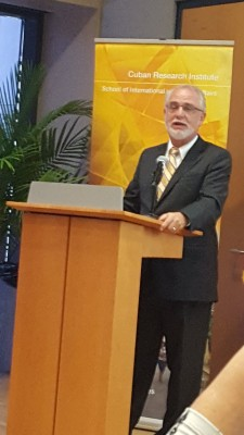 Cuban-American lawyer Pedro Freyre spoke at a community forum on President Obama's visit to Cuba.