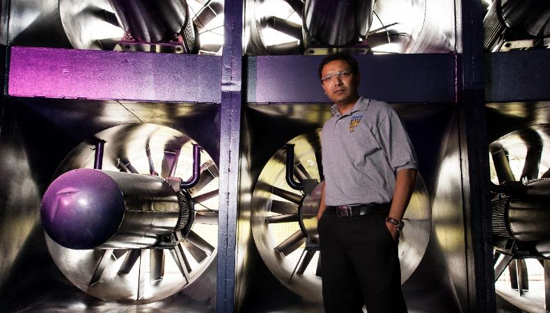 Arindam Chowdhury Florida International University Engineering Professor at the Wall of Wind
