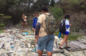 All of us cleaning up microplastic and trash.
