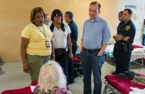 Secretary Acosta visits special needs victims at FIU shelter