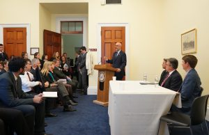 Congressman Ted Deutch (FL-22) kicks off the Coastal Sustainability Briefing on Capitol Hill.